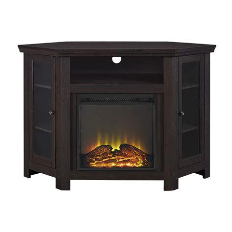corner fireplace tv stand espresso