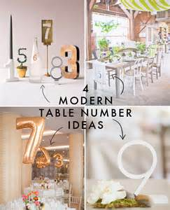 wedding table number ideas 4 modern table number ideas modern wedding