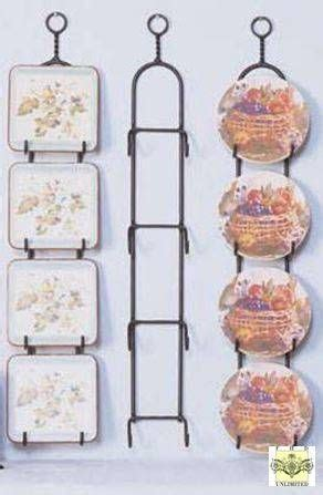 usathis finely crafted wrought iron plate rack  display    small