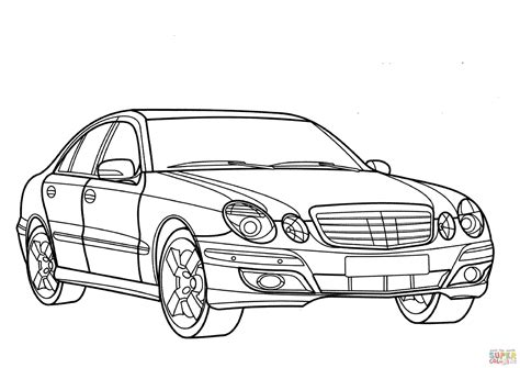 Ausmalbilder autos mercedes 762 malvorlage alle ausmalbilder. Mercedes E Class coloring page | Free Printable Coloring Pages