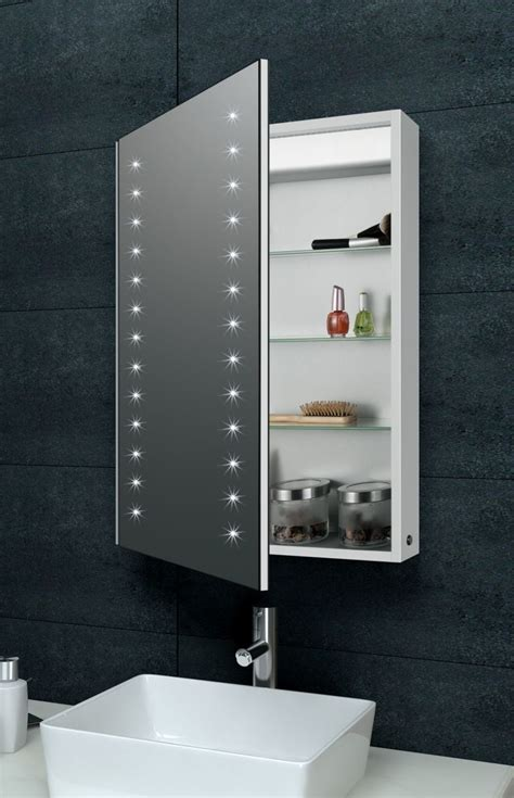 Bathroom Cabinet With by Apollo Aluminium Bathroom Cabinet With Led Lights And Demister
