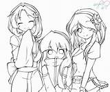 Anime Coloring Pages Friends Bff Friend Drawing Printable Lineart Chibi Sisters Sheets Manga Adults Deviantart Dead Getdrawings Muertos El Los sketch template