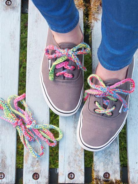 colorful crochet laces shoe lace designs