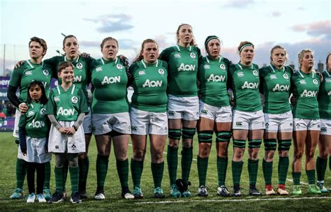 irish rugby ten uncapped players included  ireland womens squad