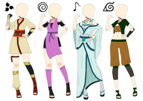 Naruto Outfits Adoptables-(CLOSED ALL) by Amabyllis on DeviantArt