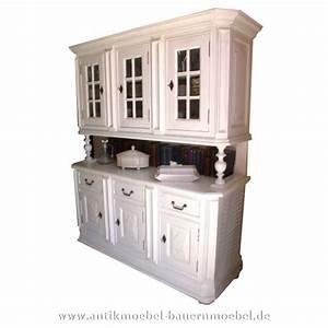 Sideboard Landhausstil Weiß : buf 40 buffet k chenschrank weichholz landhausstil weiss massiv ~ Markanthonyermac.com Haus und Dekorationen