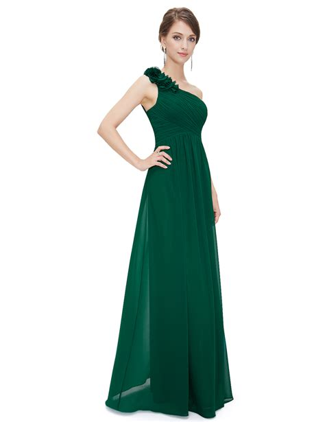 Uk Cheap Long Oneshoulder Bridesmaid Party Dress Cocktail