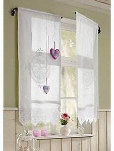 Gardinen Für Lange Fenster : gardine romantik mit bindeb ndern deko und ferienh uschen ~ Bigdaddyawards.com Haus und Dekorationen