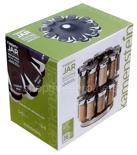 Spice Rack Spices Included by New 20 Jar Revolving Spice Tower Rack Stand With Spices
