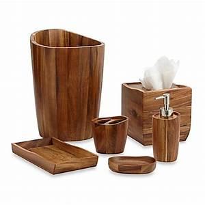 Acacia Vanity Bathroom Accessories - www BedBathandBeyond com