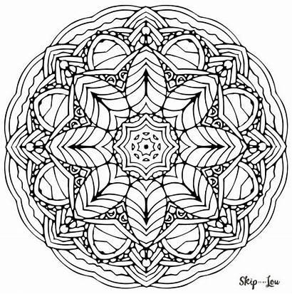 Mandala Coloring Pages Stress Printable Psychology Lou