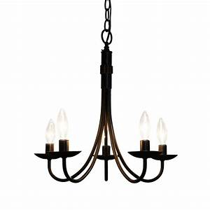 Artcraft lighting pot racks light black chandelier
