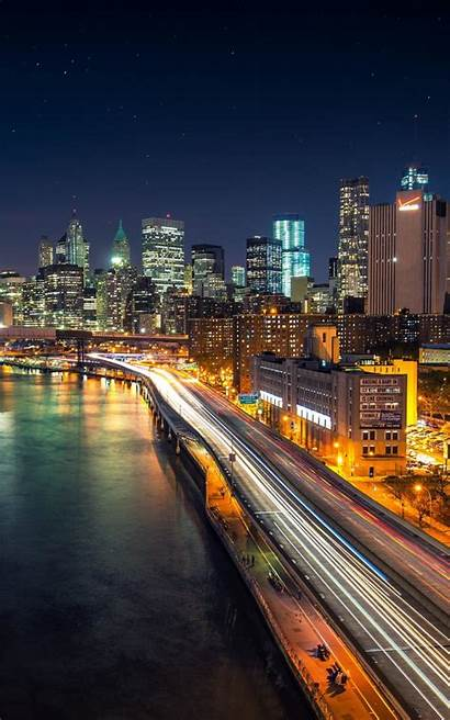 Kindle Fire Night Starry Manhattan Iphone Wallpapers