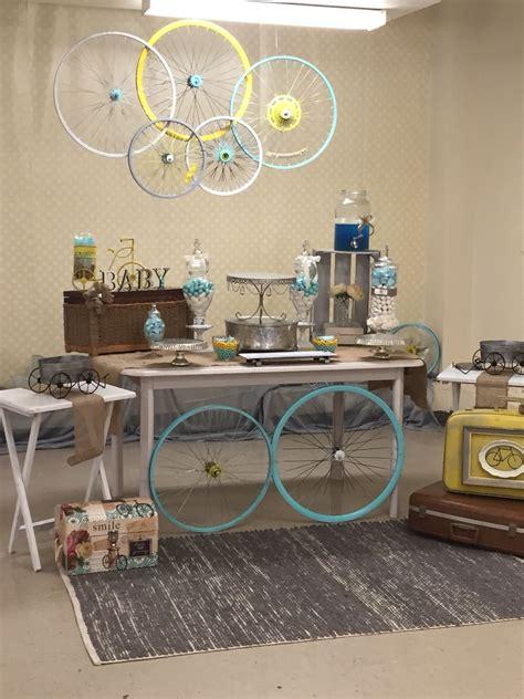 Baby Boy Vintage Bicycle Shower  R & O Decor Pinterest