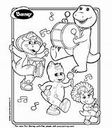 Barney Coloring Bop Printable Bj Pages Playing Birthday Instruments Printables Fun Hubpages Colouring Sheets Dinosaur Riff Paper Paint Board Books sketch template