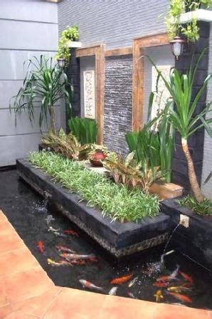 model taman  kolam ikan rumah minimalis