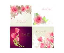 birthday invitation greetings vector greeting cards with flowers floral card templates