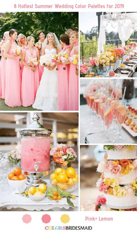All 20+ Summer Wedding Color Palettes Wedding color