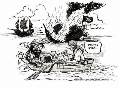 Pirate Ship Sinks Limewire Cartoon Cartoons Pirates