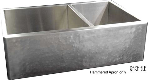 hammered stainless steel farmhouse sink custom stainless steel double bowl sinks made in the usa