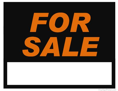 sale signs printable printable for sale sign