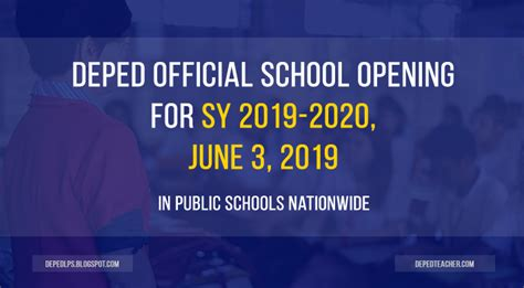 official school opening  sy   june   deped