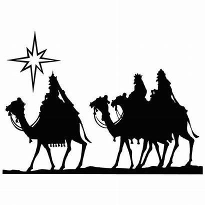 Wise Clipart Three Clip Silhouette Magi Nativity