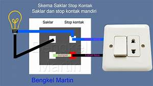 Cara Pasang Stop Kontak 2 Lampu