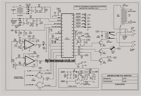 Sinewave Ups Circuit Using Picf Part Electronic