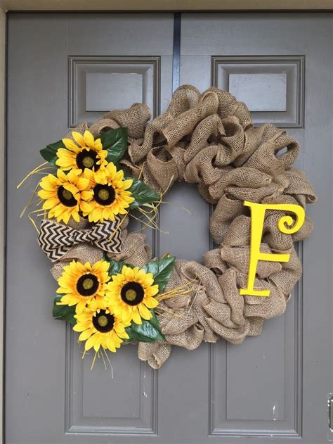 Best 20+ Sunflower Burlap Wreaths Ideas On Pinterest