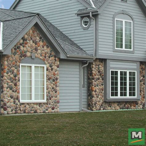 add  rock accent   homes exterior  cast natural stone northwoods river rock fe