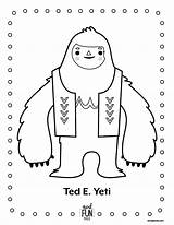 Coloring Yeti Printable Nod Dessin Winter Coloriage Fun Ted Crafts Colouring Snowman Monster Birthday Bigfoot Crate Designlooter Landofnod 792px 49kb sketch template