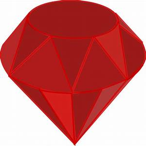 Ruby Gemstone Vector Clipart image - Free stock photo ...