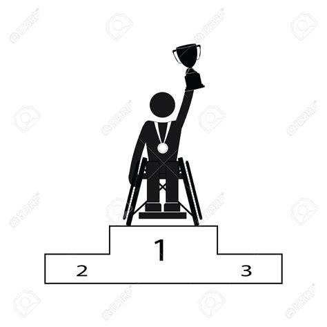 Pictogramme Fauteuil Roulant by D 233 Sactiver Handicap Sport Jeux Paralympiques Vainqueur