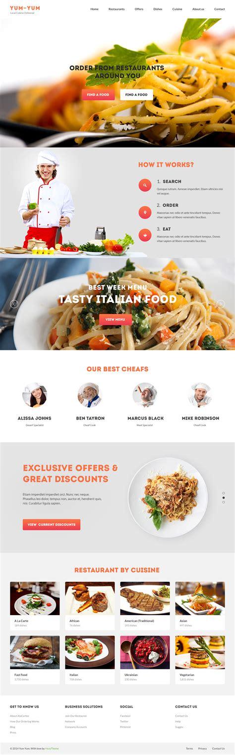 cuisine yum yum yum yum restaurant psd template by hezytheme themeforest