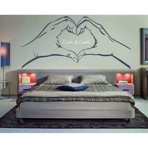 dessin mural chambre adulte stickers tete de lit o0197