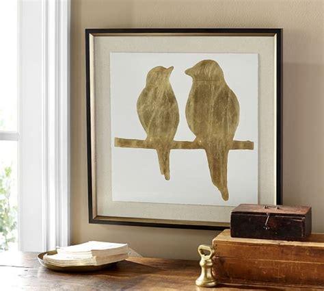 pottery barn prints gold leaf bird framed print pottery barn