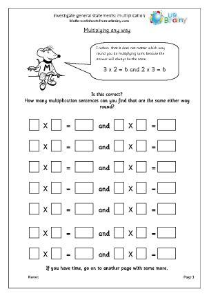 investigate statements multiplication reasoningproblem
