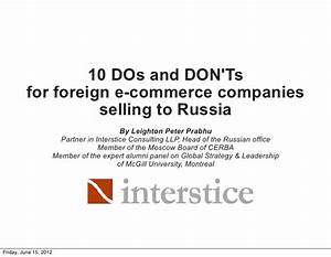 Russian E-Commerce Market Entry - 10 Dos and Don'ts