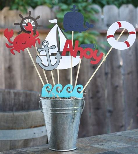 Nautical Party Centerpieces On Pinterest  Nautical Table