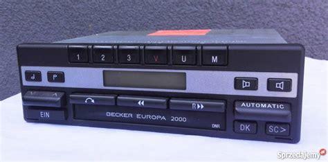 becker europa 2000 radio becker europa 2000 be 1100 mercedes pszczyna
