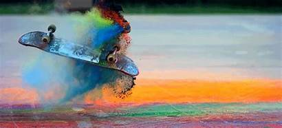 Tricks Skateboard Paint Flying Powder Everywhere Cooler