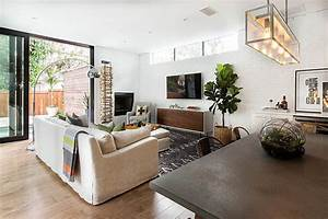 Transitional living room with plenty of natural light