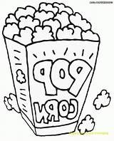 Popcorn Coloring Pages Kernel Template Pizza Colored sketch template