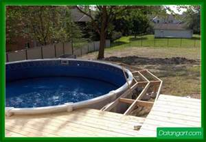 round above ground pool deck plans pictures to pin on