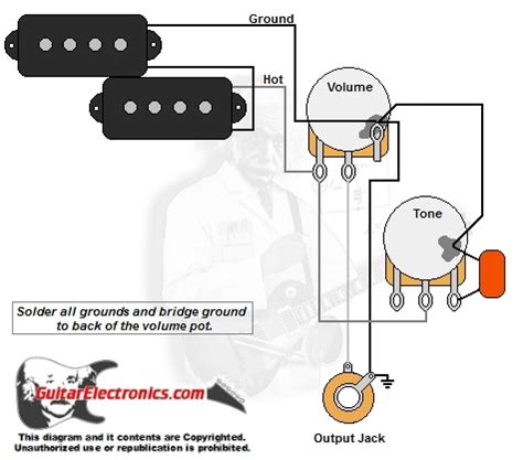 p bass style wiring diagram