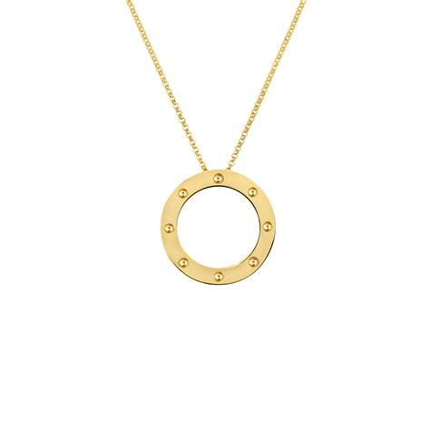 Roberto Coin's Gold Circle Pendant From Pois Moi Collection. Handcrafted Jewelry. Black Bands. Video Watches. Black Sequin Earrings. Small Stud Earrings. Best Man Watches. Guide Diamond. Solid Gold Necklace
