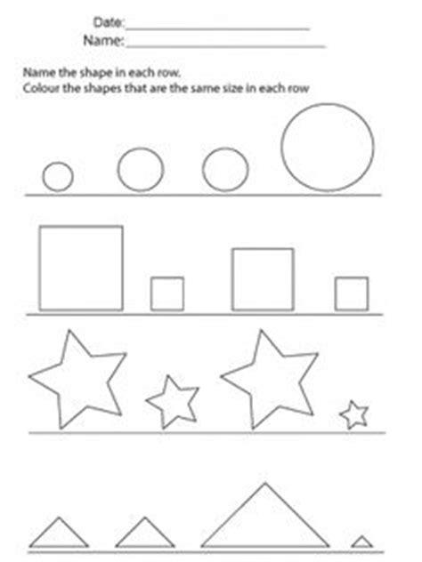 unique worksheets shapes colors  prk   pages