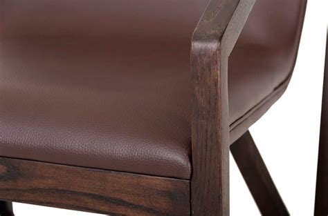 modern brown eco leather lounge chair vg511 accent seating