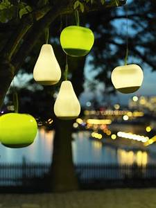 solar powered decorative ideas to light up your yard With led solar powered floor lamp apple shaped green